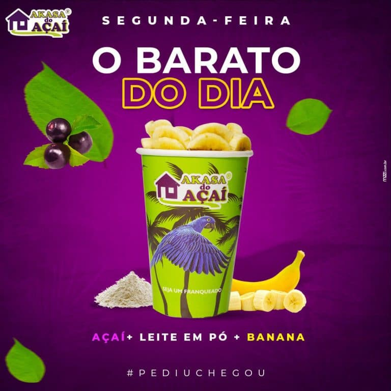 1 - Barato do Dia - Segunda - Akasa do Açaí