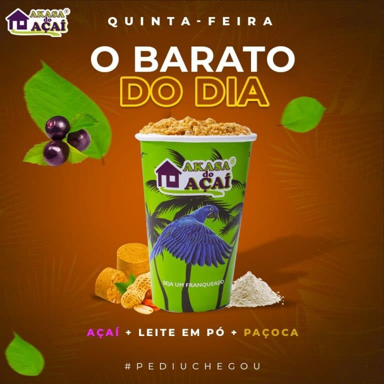 4 - Barato do Dia - Quinta - Akasa do Açaí